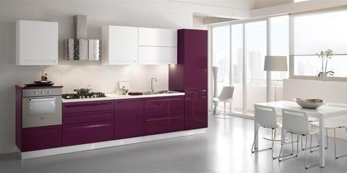 cucine moderne  laccate  lucide  opache  laminato  offerte  design  impiallacciate  scala rall  maniglie ad incasso  filo anta mod viola