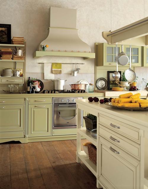 cucine rustiche  in yellow pine  pino abete  finta