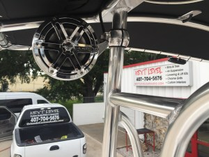 Custom marine tower speakers for bay boats