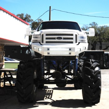 custom bumper light bar ford truck florida