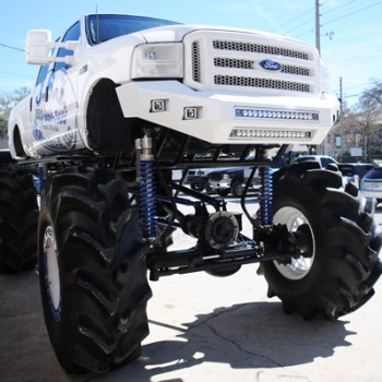 Powder coated springs, custom bumper, light bars and more