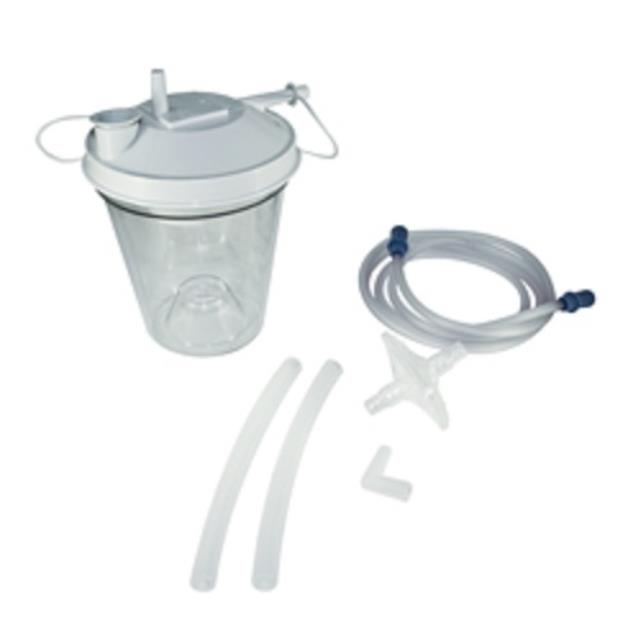stationary suction machine canister