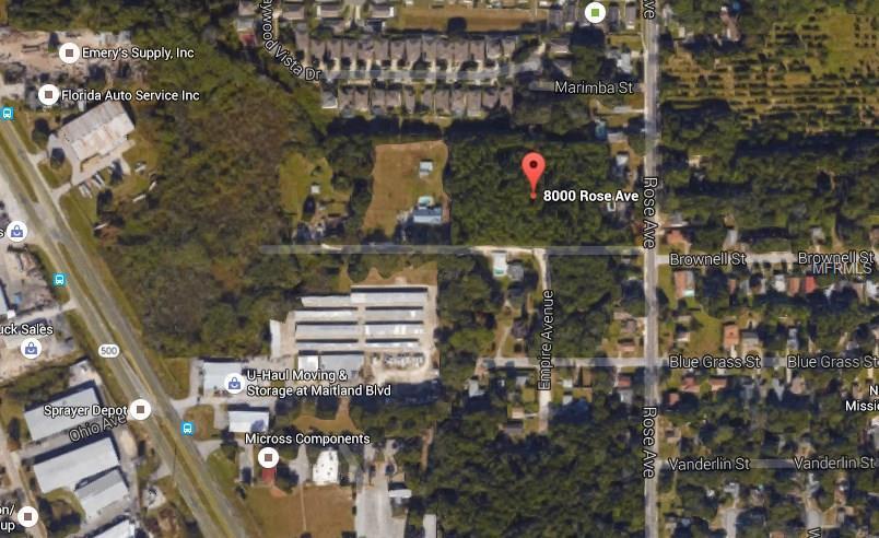8000 ROSE AVE,ORLANDO,Florida 32810,Land,ROSE,O5431928