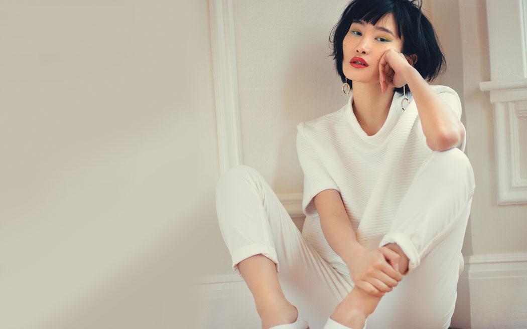 Sweater-Tibi Pants- Alexander Wang Earrings-Chloe