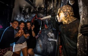 "The nation's best Halloween event, Universal Orlando's Halloween Horror Nights, is now open at Universal Orlando Resort, with more nights than ever before.  Nightmares come to life in nine disturbingly-real haunted houses based on everything from haunting original tales to some of the most terrifying names in pop culture, including critically-acclaimed film  ""Halloween II.""  The event also features five scarezones with dozens of menacing scareactors lurking around every corner, and two outrageous live shows. Universal Orlando's Halloween Horror Nights 26 takes place select nights now until Oct. 31, 2016."