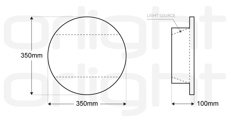 Circular Led Stair Core Feature
