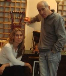 На фото: Е. Бершин и Н. Крофтс в салоне «Чёрный рояль», 2012г.