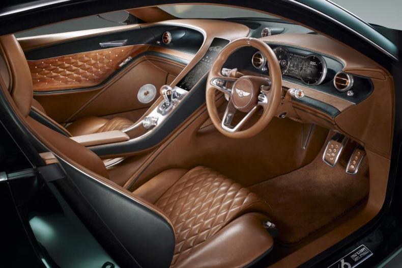 Interior of a Bentley EXP10 sports car