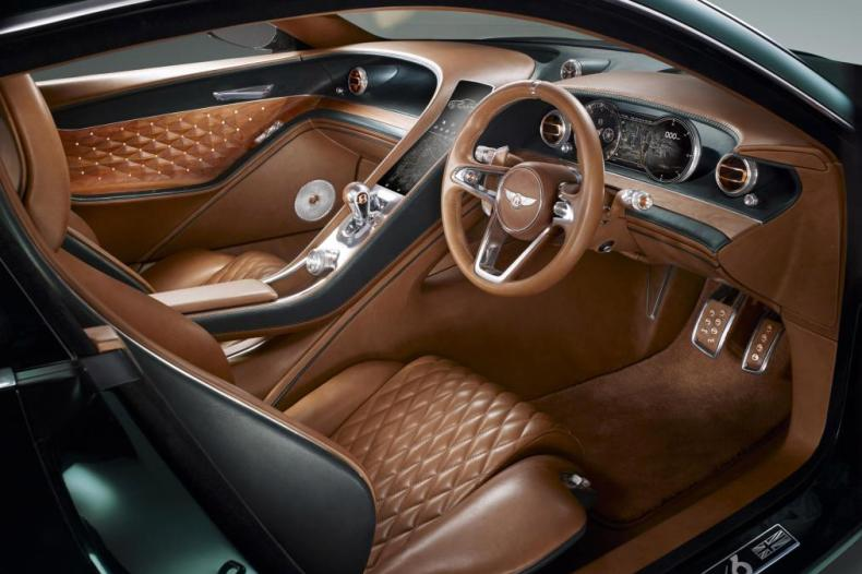 Interior of a Bentley EXP10 sports car