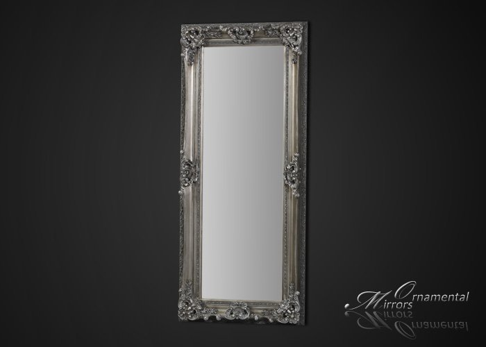 Silver Framed Full Length Mirror