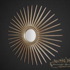 Full Size Mirror In Living Room Burgundy Decor Starburst | Champagne