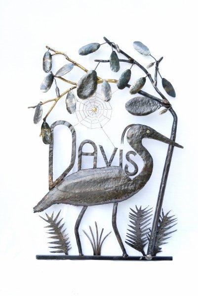 Heron Name Plate