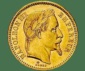 cours cotation du 20 francs napoleon