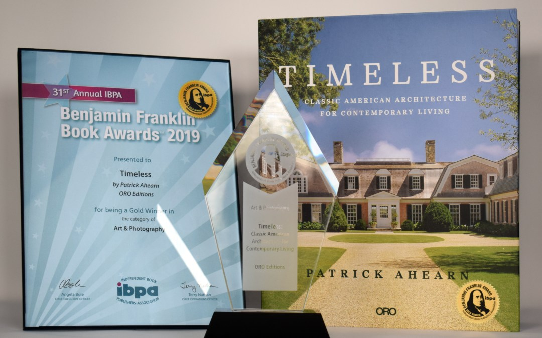 IBPA Benjamin Franklin Awards Timeless the Gold Award for being the Top Arts and Photography Book for 2019