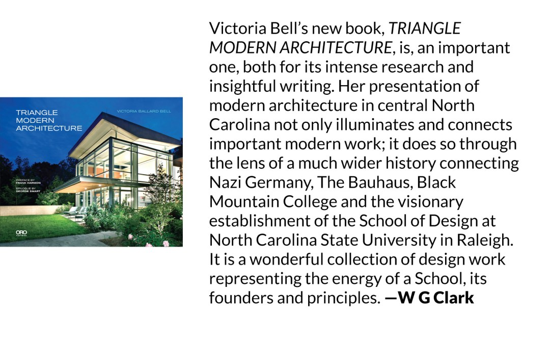 Endorsement of Triangle Modern Architecture by W G Clark