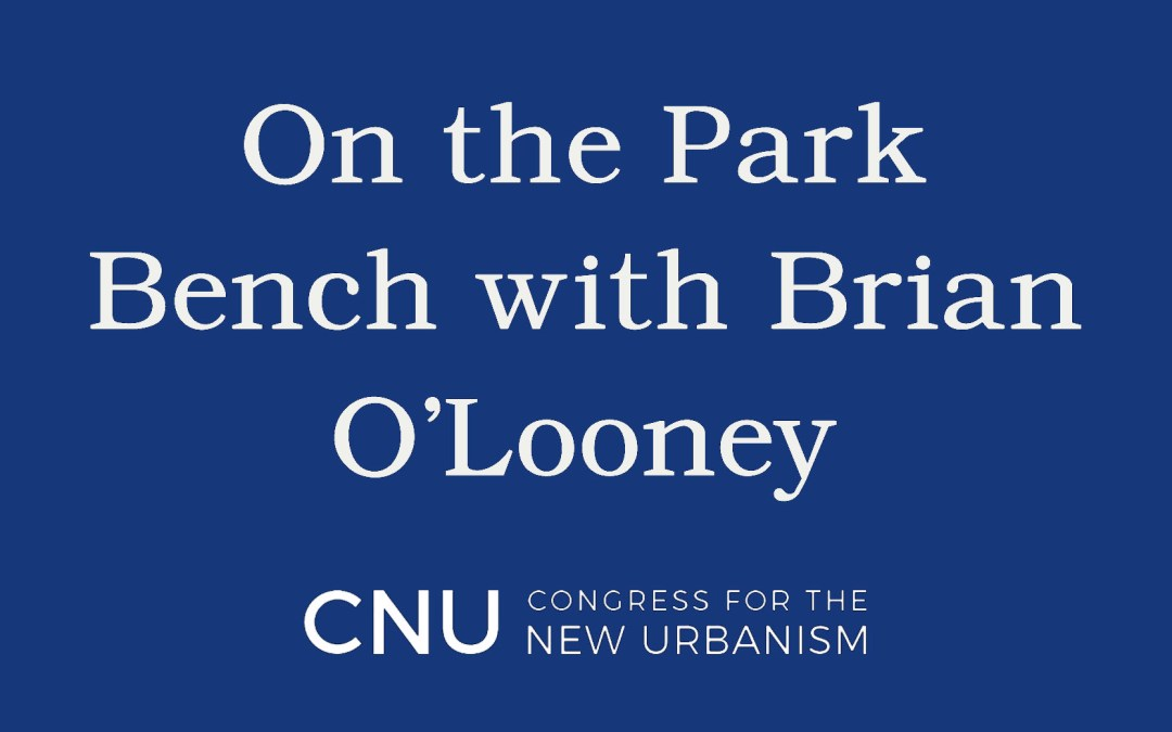 On the Park Bench author interview with Brian O'Looney