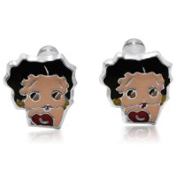 Betty Boop Earrings in .925 Sterling Silver With Screw ...