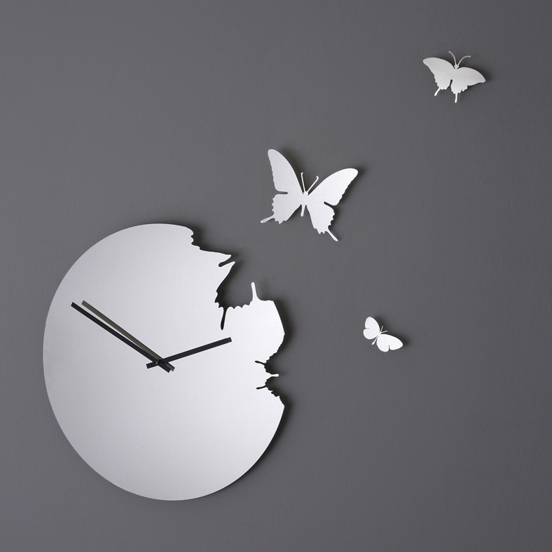 orologio da parete a specchio