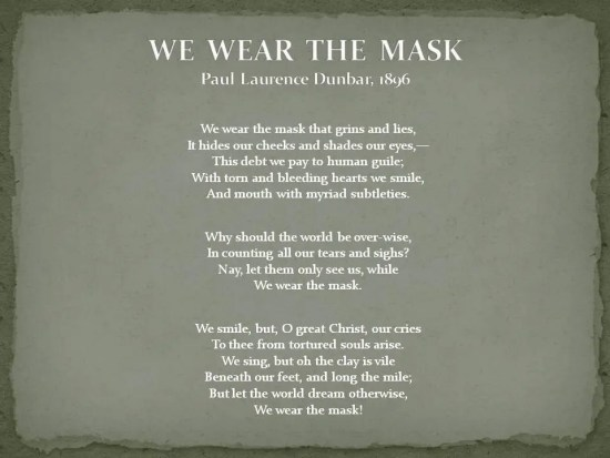 We Wear the Mask - pld