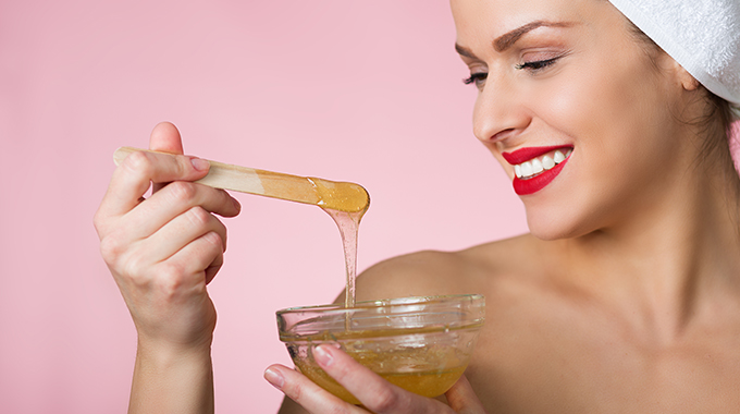 Image result for woman honey face mask image