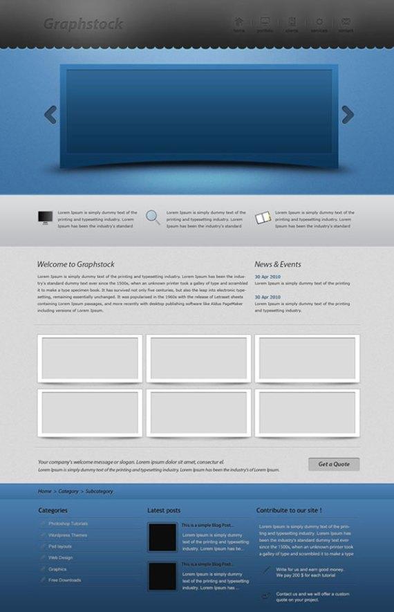 Awesome portfolio layout