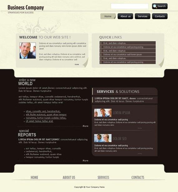 Create a corporate layout