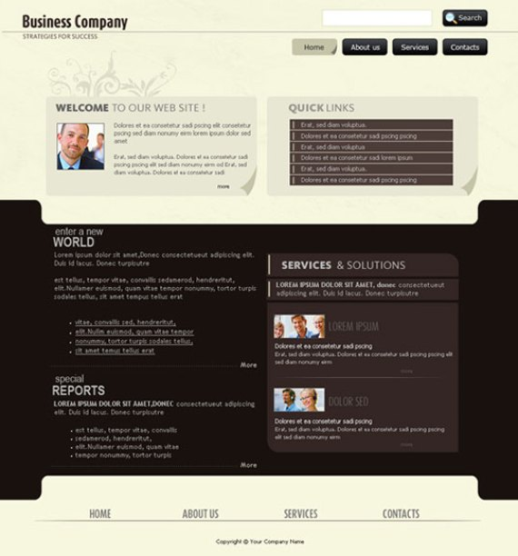 Create a corporate layout