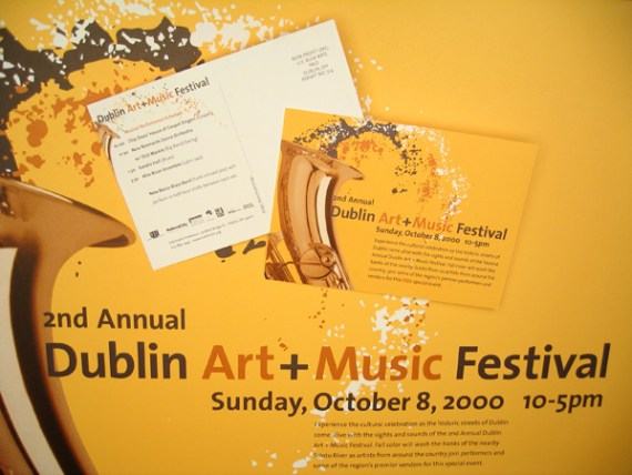 dublin arts music festival posterpostcard - Postcard Design Ideas