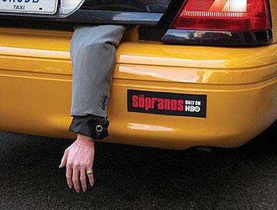 Sopranos Taxi Advertising