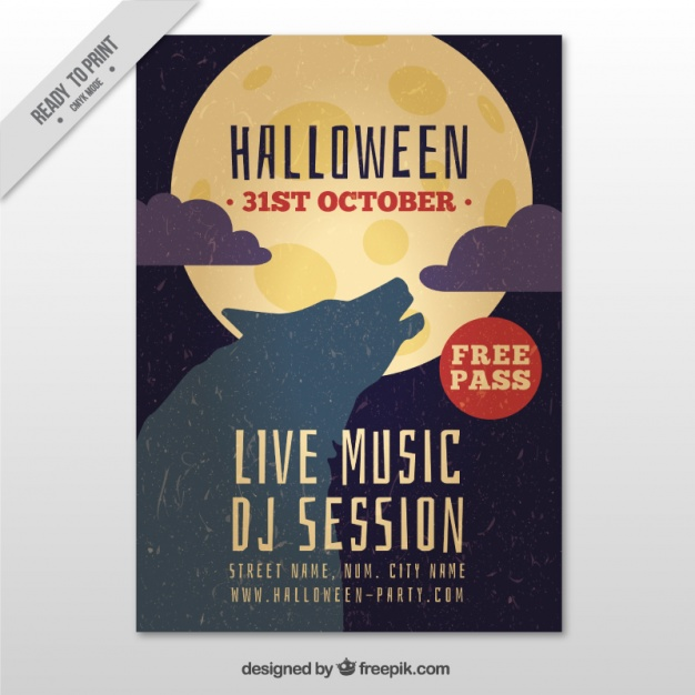 20 free halloween posters to jumpstart your spooky party halloween poster 04 stopboris Gallery