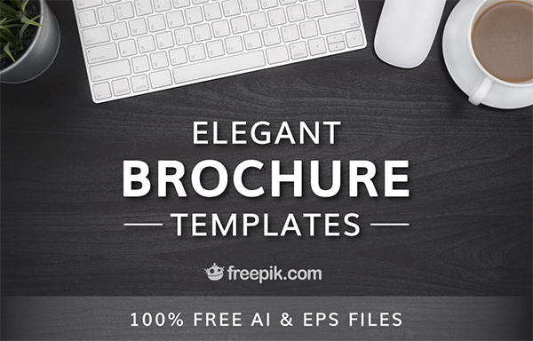 Check Out This Set Of Elegant Brochure Templates By Freepik And Flaticon