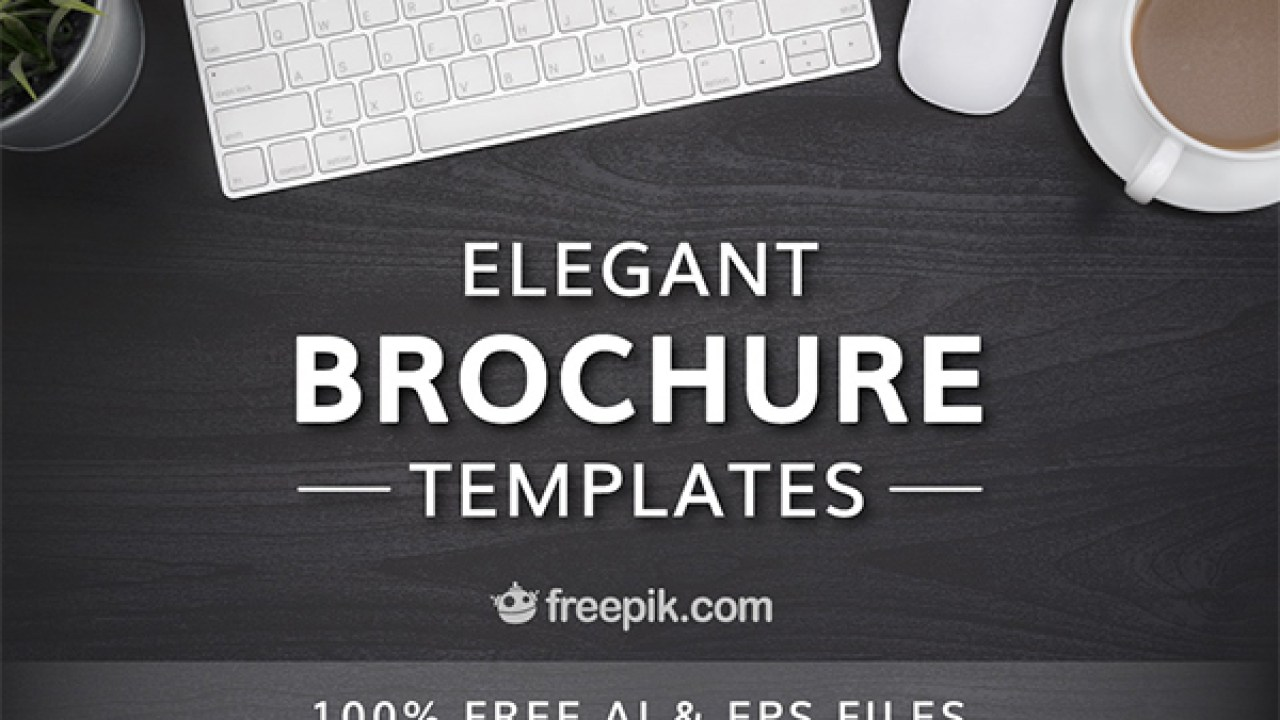 Check out this set of elegant brochure templates by Freepik
