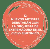 12 nuevos artistas debutarán con la Orquesta de Extremadura en el ciclo sinfónico