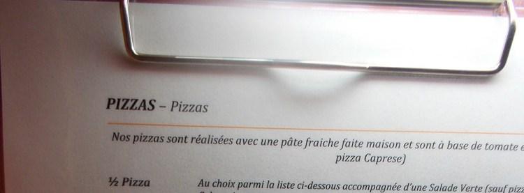 Menu italiano all'estero