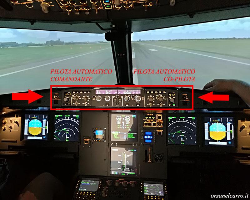 come si pilota un aereo di linea