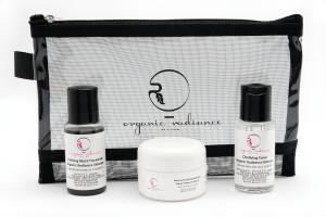 Organic Radiance Skincare Travel Kit-Purifying Black Facewash-Clarifying Toner-Herbe Sois Calming Moisturizer