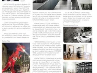 Orsiad Gazetesi AĞUSTOS / 2017 Sayısı KRONOSWISS 2. ilanı.