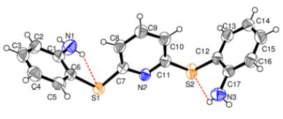 glutatyon redüktaz aktivitesini etkilen ligandlarının temel yapısını oluşturan bileşiğin x-ışını ile aydınlatılmış yapısı