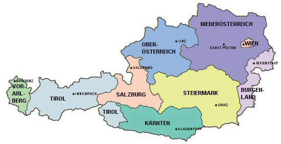 austria borders germany and the czech republic to the north slovakia and hungary to the east slovenia and italy to the south and switzerland and