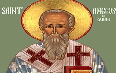Ορθόδοξος Συναξαριστής 7 Δεκεμβρίου, Άγιος Αμβρόσιος επίσκοπος Μεδιολάνων