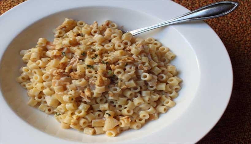 Aγιορείτικες Μοναστηριακές Συνταγές : Μακαρονάκι κοφτό με καρύδια