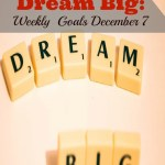Daring to Dream Big: Weekly Goals for December 7