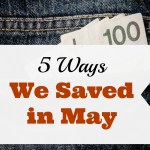 5 Ways I Saved in May