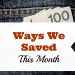 5 Ways We Saved in November