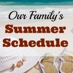 Our Family's Summer Schedule