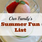 Our Summer Fun List