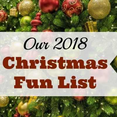 Our 2018 Christmas Fun List