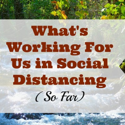 What's Working for Us in Social Distancing (So Far)