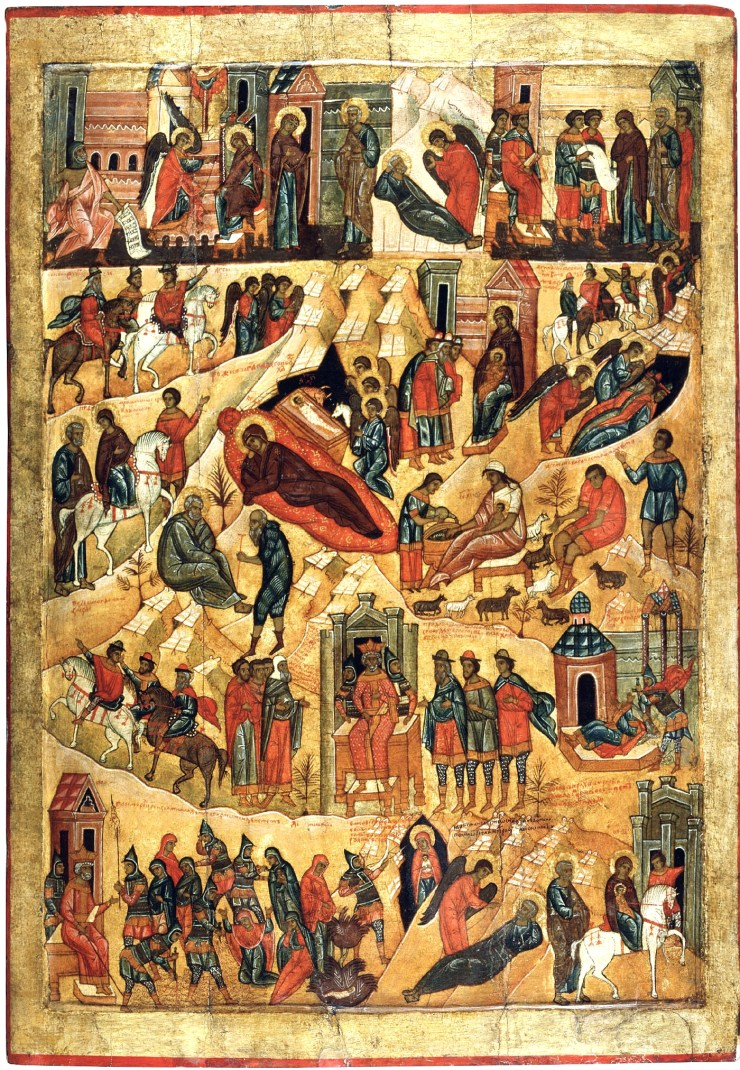 Christmas Iconography.The Christmas Story In Color Orthodox Road