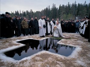 Theophany - blessing of the waters by Sergey Kompaniychenko - Valaam Monastery